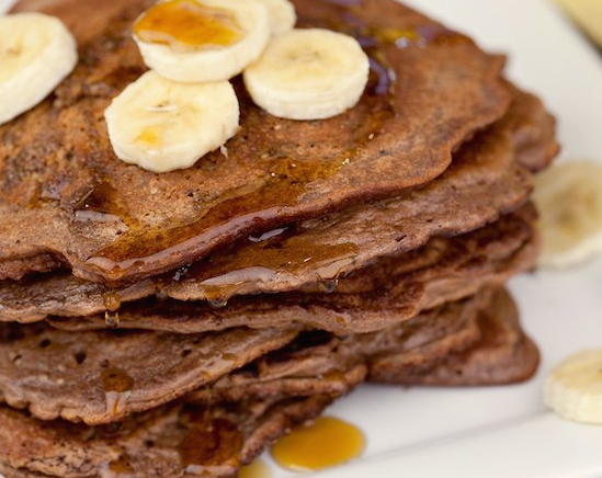 """Featured image for """"Chocolate Banana Protein Pancakes"""""""