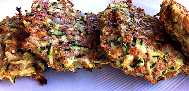 """Featured image for """"Zucchini Fritters With Avocado Dip"""""""